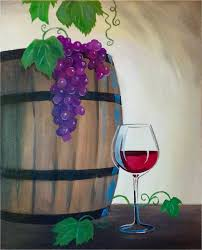 wine canvas painting class barrel of laughs