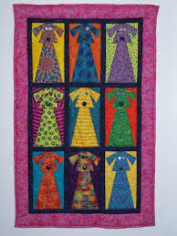 Dog Quilt Patterns Cool Width=48 Janet Nations I Love Dogs And Bright Colors This Is