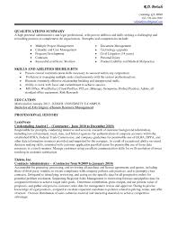 Resume Examples For Administrative Positions New Cover Letter Sample