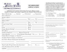 organization membership form template mahopac carmel chamber of commerce membership application