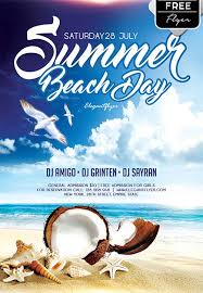 Beach Flyer Download Summer Beach Day Free Flyer Template For Photoshop