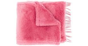 Длинный Пушистый <b>Шарф Max Mara</b>, цвет: Розовый - Lyst