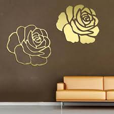 rose wall sticker decal gold and sliver wall covering stickers for bedroom decoration wedding gift free shipping in wall stickers from home garden on  on rose gold wall art stickers with rose wall sticker decal gold and sliver wall covering stickers for