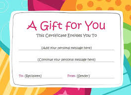 Gift Voucher Free Template Blank Gift Certificate Template Happy Birthday Voucher Free