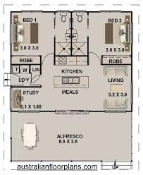 bed study granny flat house plan 89 8