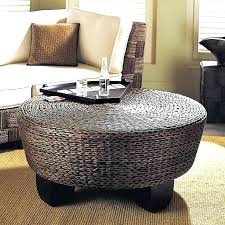 indoor wicker coffee table round wicker ottoman coffee table for interesting enchanting round wicker ottoman coffee