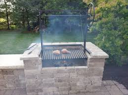 outdoor fireplace for cooking inspirational the plum argentine grill kit