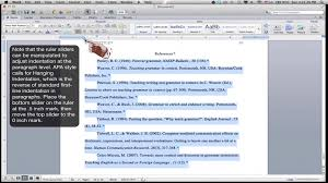 apa format on word formatting an apa style references page ms word for mac 2011