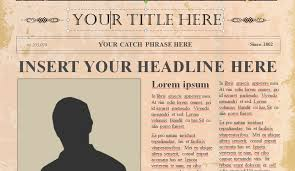 Vintage Newspaper Template Free Editable Old Newspaper Template For Word
