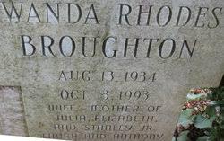 Wanda Elizabeth Rhodes Broughton (1934-1993) - Find A Grave Memorial