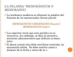 Memo En Espanol Unidad De Memorandum
