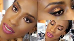 bronze smokey eye makeup tutorial for black women