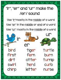 Printable phonics worksheets for kids. Fabulous Er Ir Ur Phonics Worksheets Hands On Activities For Teaching Irerur Make Take Teach Rules Words Jaimie Bleck