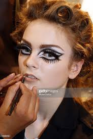 models makeup in backse at the dior