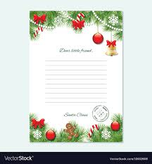 Christmas Letter From Santa Claus Template