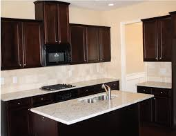 Porcelain Tile Kitchen Backsplash Glorious White Porcelain Square Top Espresso Cabinets Kitchen