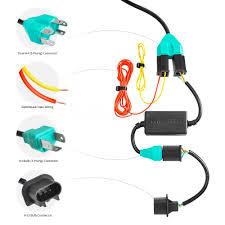 lumen® jeep tj canadian market wrangler wrangler 1997 7 round 7 round black projector led headlights switchback halo wiring