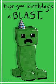 Creeper Birthday Card By Lucieniibi Deviantart Com On Deviantart
