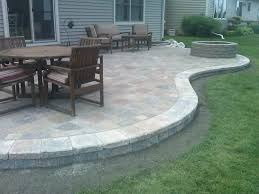 square paver patio with fire pit. Interesting Paver Garden IdeasPaver Patio Designs Equipped Rectangle Stone Concrete Square Pavers Best Looking Ideas Driveway With N . Fire Pit