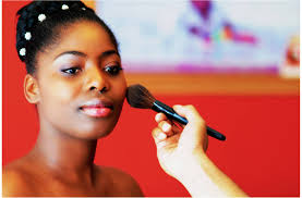 makeup artist for black skin image