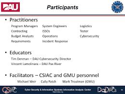 Defense Acquisition University Secure Systems Design Course