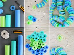 pool noodle crafts garland