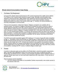 rhode island hpv school mandate a case study