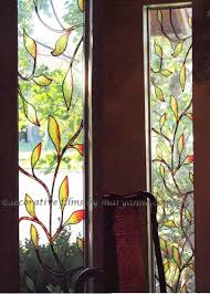 faux stained glass window biscayne stained glass