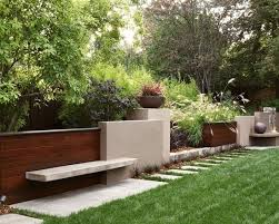 Small Picture stunning sloping garden landscape designed with grey retaining