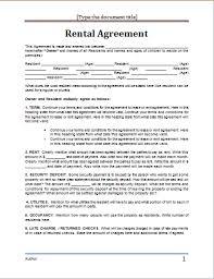 basic lease agreement template basic rental agreement word document bravebtr