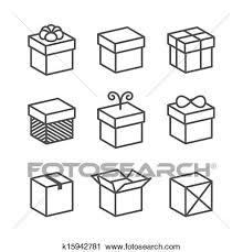 ベクトル 贈り物の箱 アイコン 休日 プレゼント クリップアート切り張りイラスト絵画集