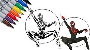 This spiderman coloring pages article contains affiliate links. Spider Man Black Miles Morales Coloring Pages Sailany Coloring Kids Youtube