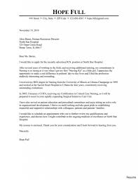 Sample Nursing Cover Letters Example Of Cover Letter For Nursing Job Resume 24a Student Graduate 18
