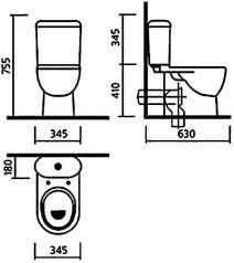 <b>Унитаз компакт Sanita Luxe ART</b> SL DM (630x345x755) сиденье ...