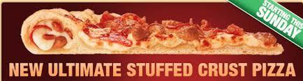pizza hut pepperoni stuffed crust. Perfect Stuffed Pizza Hut  Inside Pepperoni Stuffed Crust P