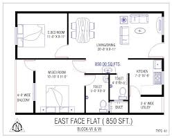 house plan for 700 sq ft east facing plans
