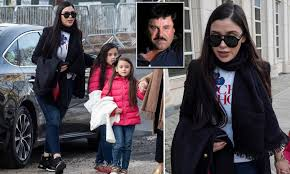 El Chapo's beauty queen wife returns to kingpin's trial with twin daughters  after missing hearings
