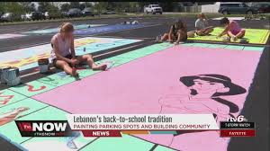 lebanon high school seniors get colorful with annual parking lot tradition you
