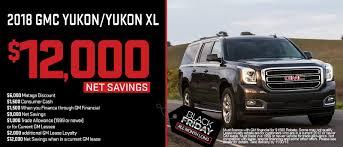 2018 yukon and yukon xl black friday special up to 12 000 net savings