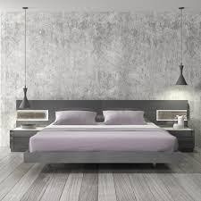 Platform Bed Bedroom Set Braga Natural Grey Lacquer Platform Bedroom Set