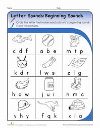 26 alphabet letter sounds worksheets. Letter Sounds Beginning Sounds Worksheet Education Com