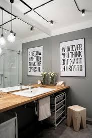creative bathroom track lighting