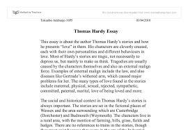 thomas hardy essay gcse english marked by teachers com document image preview