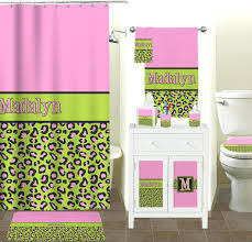 gallery pictures for pink lime green leopard shower curtain