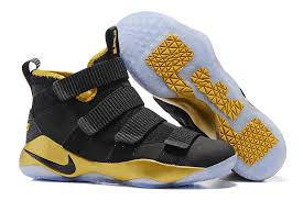 lebron shoes soldier 11. wholesale nike lebron zoom soldier 11 black gold men\u0027s basketball shoes