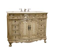 Antique Bathroom Cabinets Adelina 42 Inch Traditional Antique Bathroom Vanity Fully