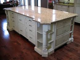 Decorative Kitchen Islands Large Kitchen Island Featuring Open Corner Shelves With