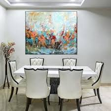 transitional dining room sets. Dining Room Art Original Large Abstract Painting Colorful Orange Blue Green Wall On . Transitional Sets L