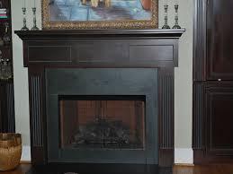 image of black marble fireplace mantel