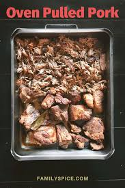 crispy oven pulled pork family e